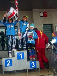 Copa Cordillera 2014. En el podio: 1º Jonás Sánchez. 2º Jaime Cabañas. 3º Jaime Fernández.